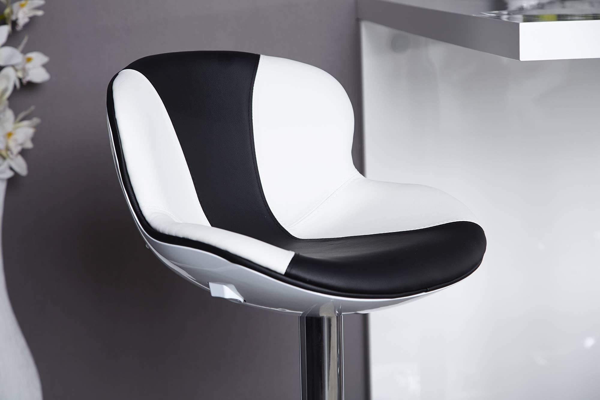 Barová stolička Fastchair čierno-biela