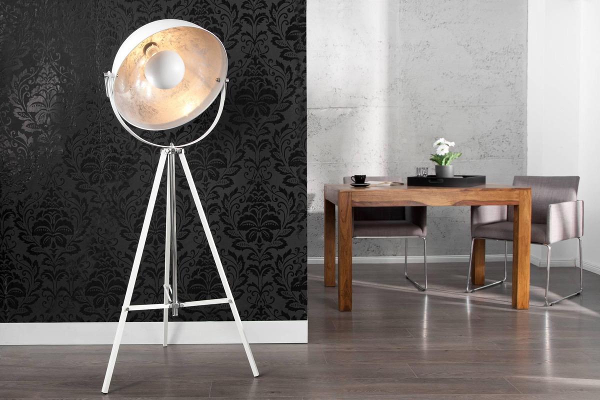 LuxD 17834 Stojanová lampa Big Atelier 160 Biela Stojanové svietidlo