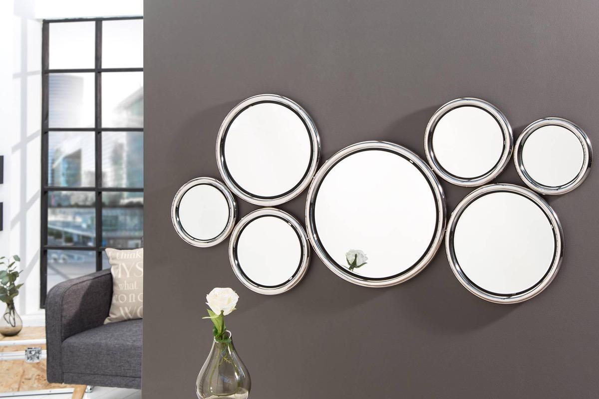 zrkadl dizajnov n stenn zrkadlo diana strieborn. Black Bedroom Furniture Sets. Home Design Ideas