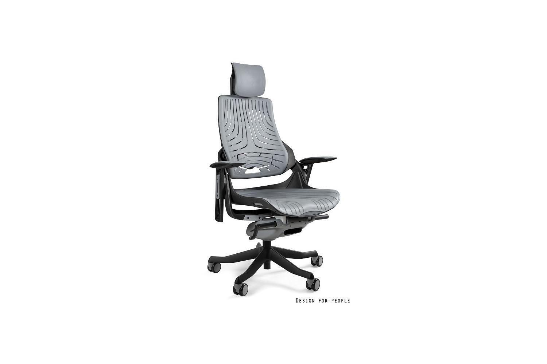 Kancelárska stolička Wanda čierny podklad elastomér sivá