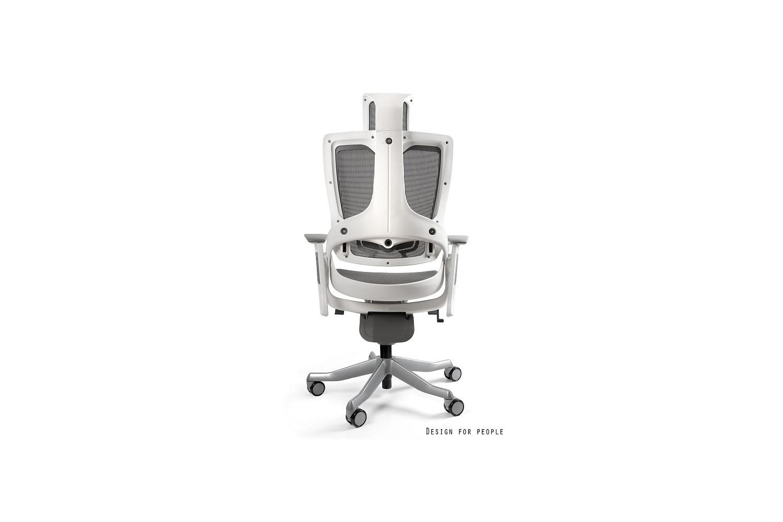 Kancelárska stolička Wanda II - sieťová biely podklad sivá - Otvorené balenie