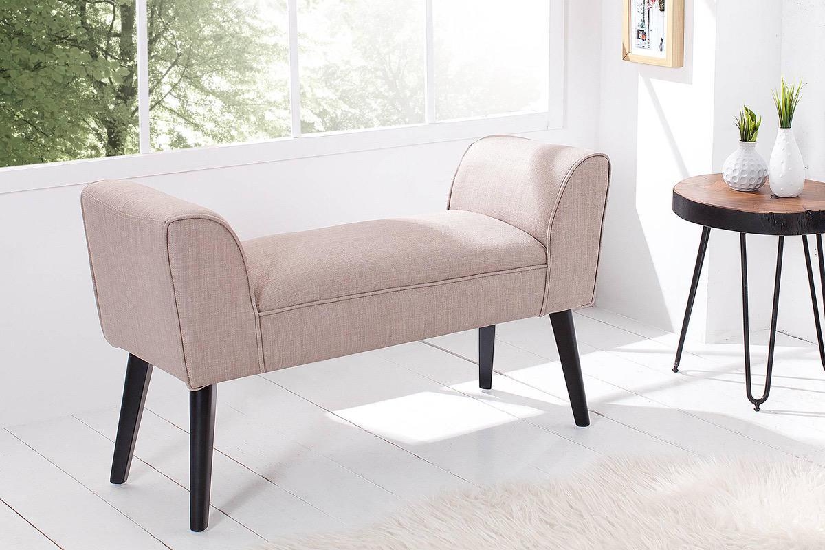 Dizajnová lavica Charlotte 90 cm piesková