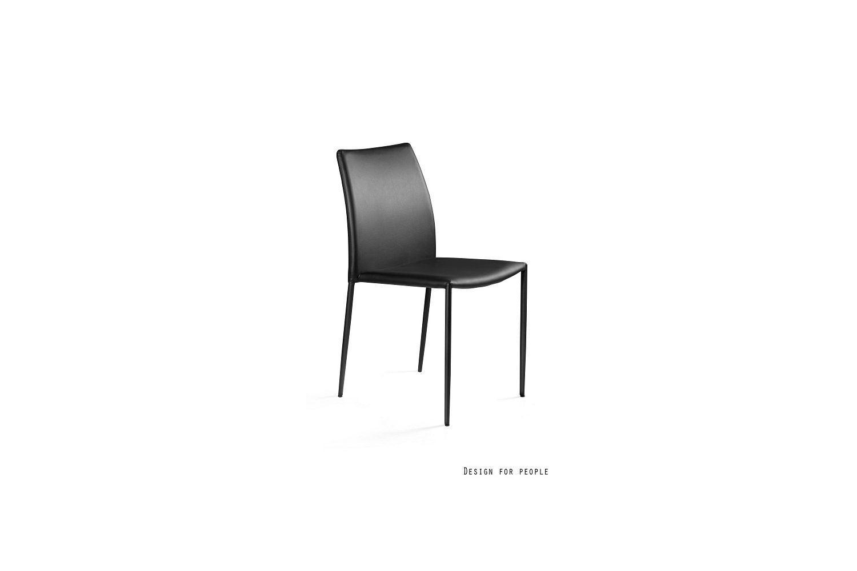 Dizajnová stolička Azura eko koža - čierna/biela