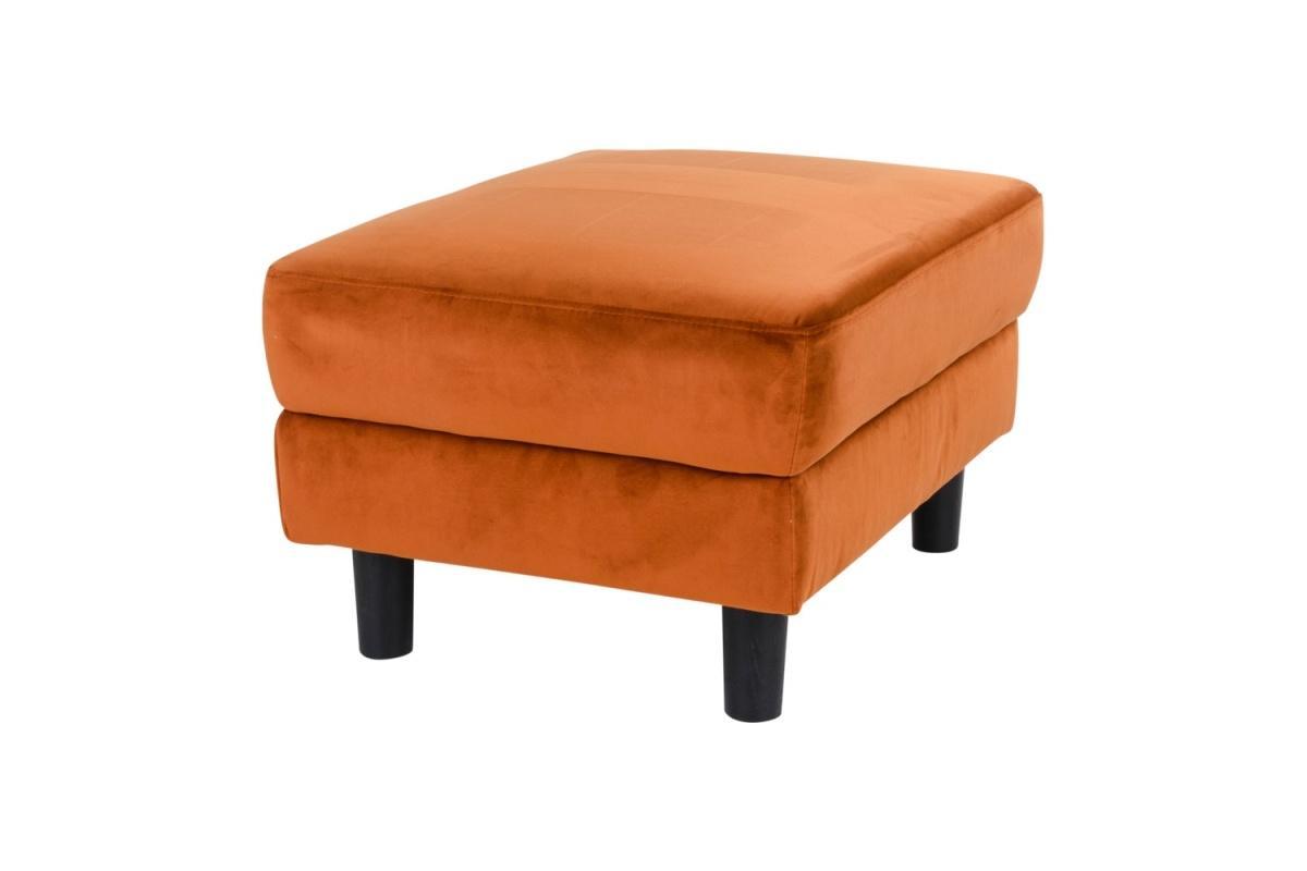 Taburetka Jack oranžový zamat