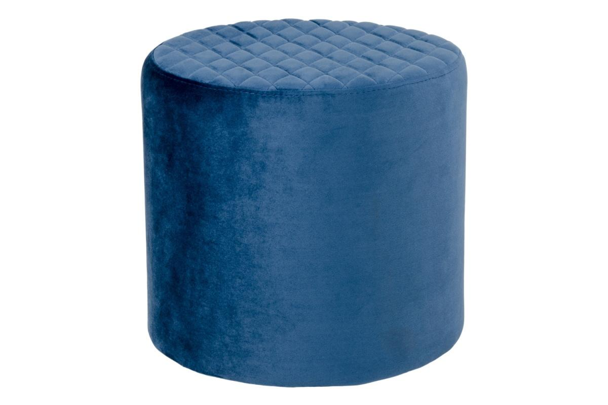 Dizajnová taburetka Kiera, modrý zamat