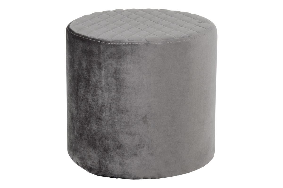 Dizajnová taburetka Kiera, sivý zamat