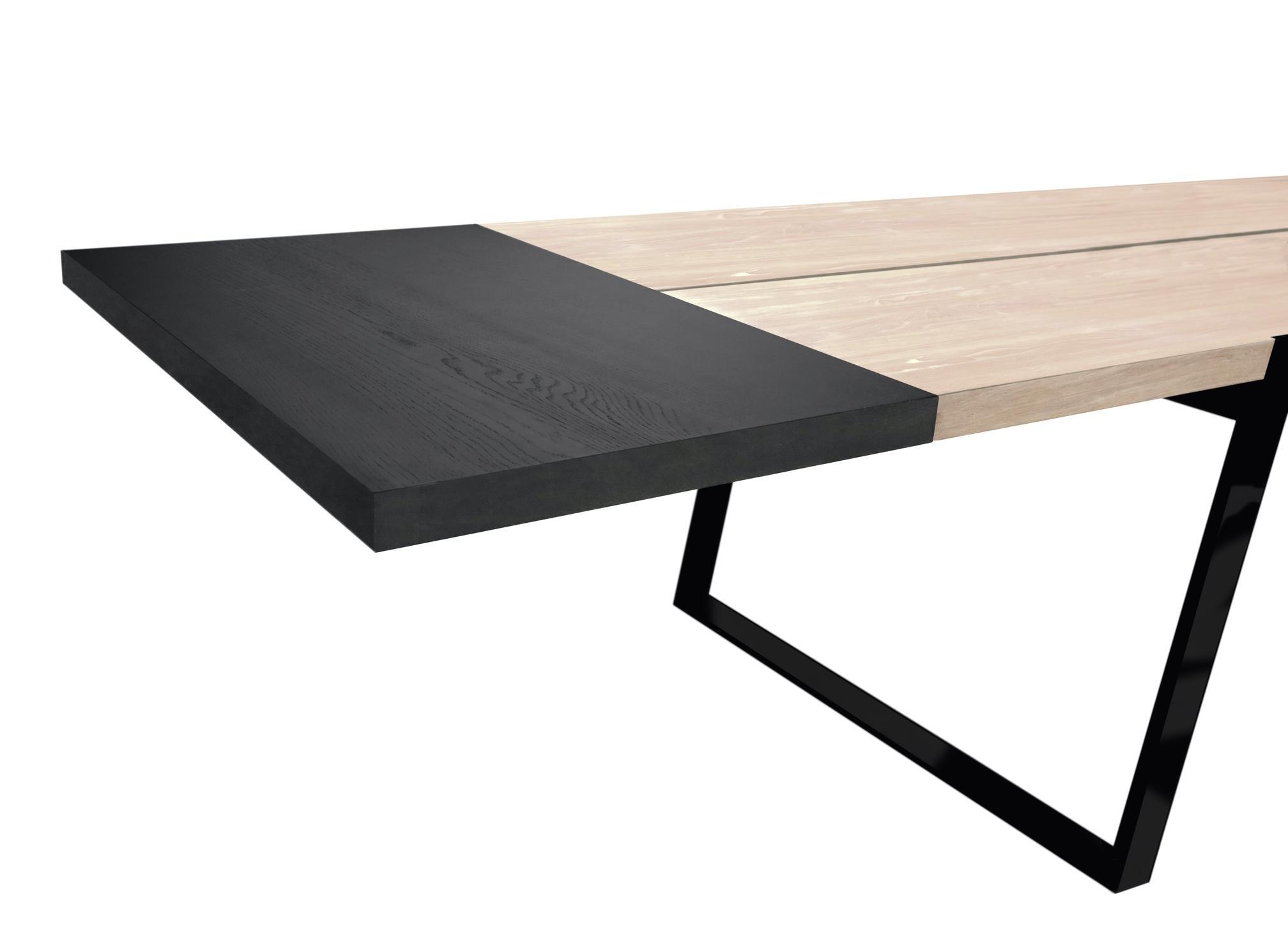 Luxusný jedálenský stôl Zora 240 - 360cm  biela/čierna