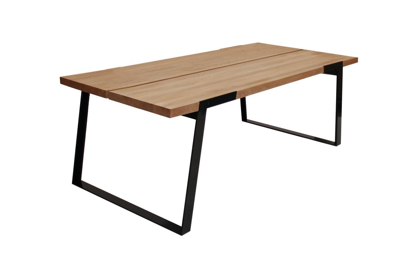 Luxusný jedálenský stôl Zora 240 - 360cm  prírodná/čierna