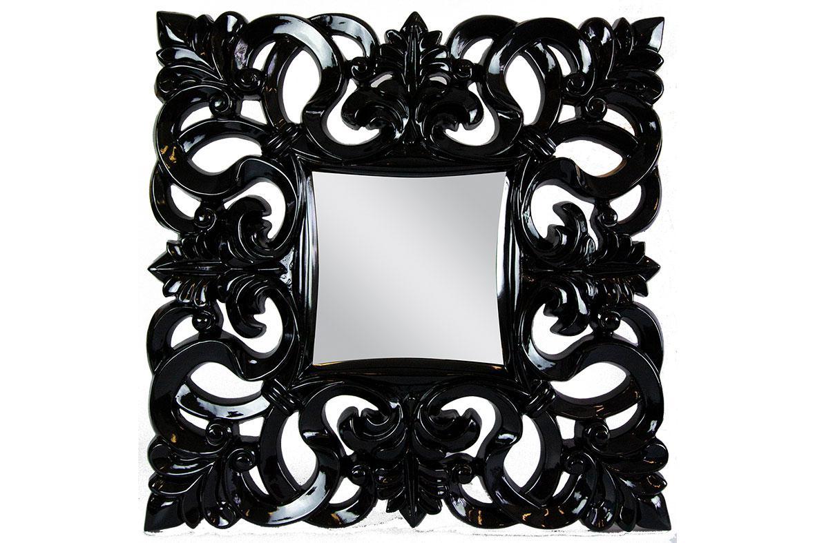 Zrkadlo Linda čierne Antik
