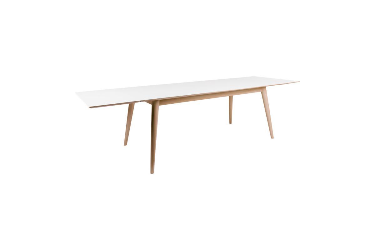 Rozťahovací stôl Ronald 285, prírodný / biely