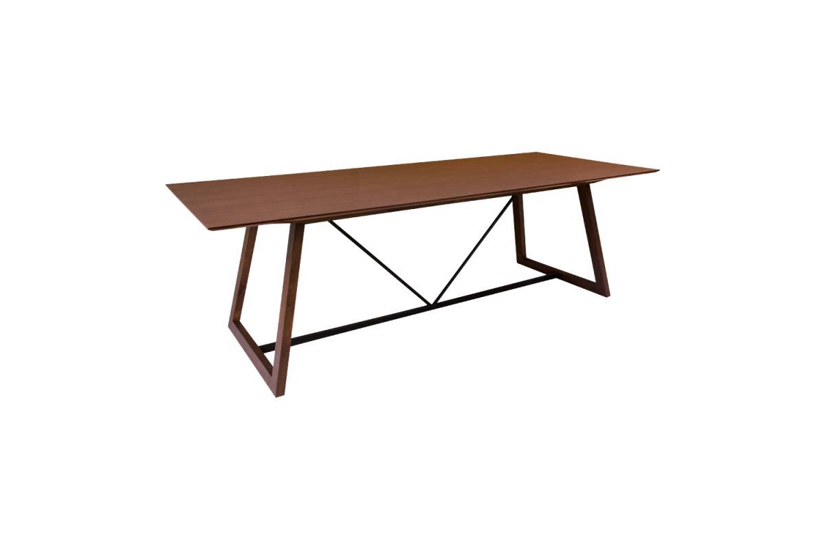 Dizajnový jedálenský stôl Miriam 240, orech