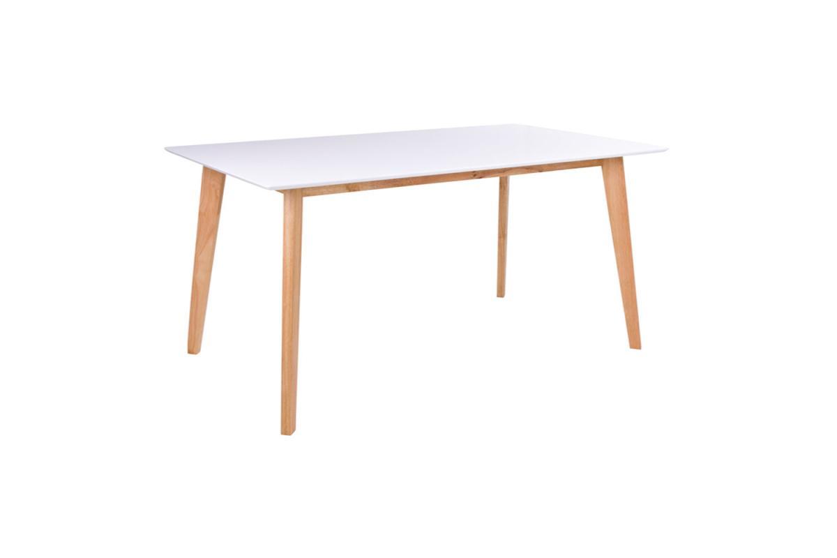 Dizajnový jedálenský stôl Carmen 210, prírodný / biely