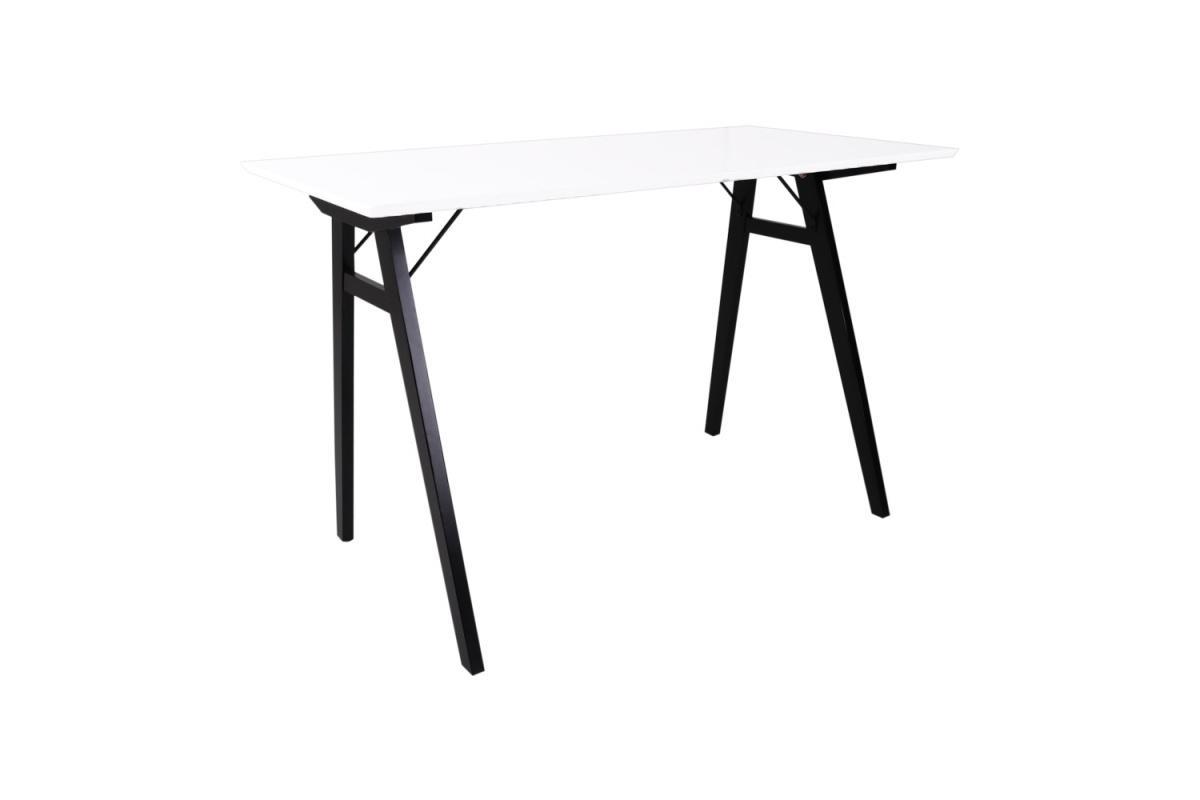 Dizajnový písací stôl Carmen, biely / čierny