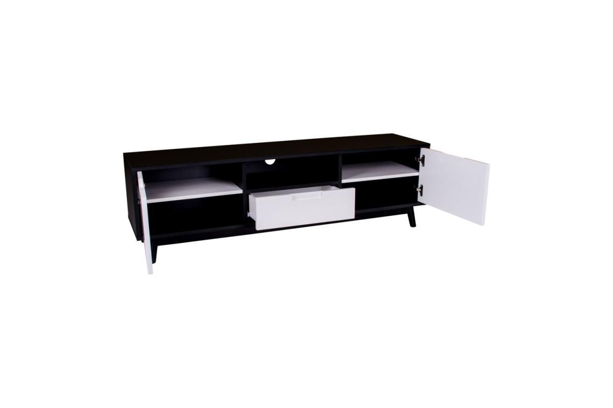 TV stolík Ronald, čierna / biela