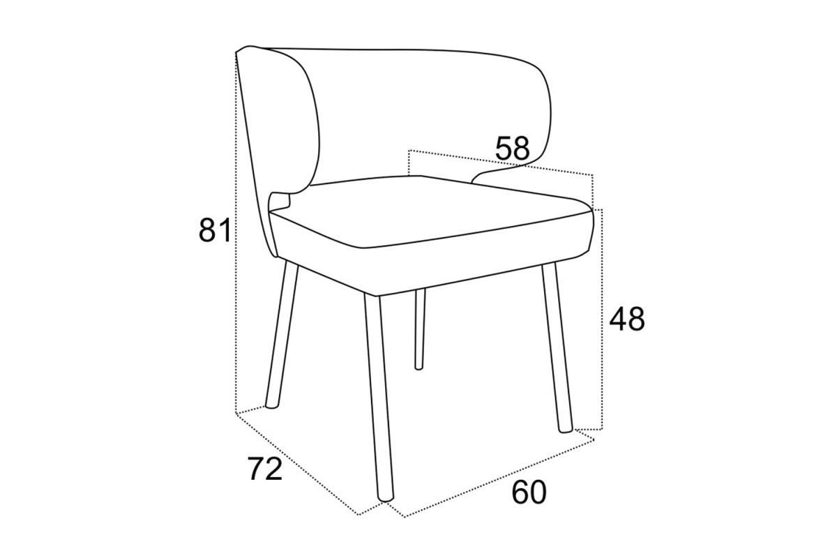 Dizajnová jedálenská stolička Ali - rôzne farby
