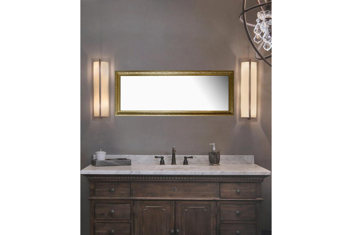 20fd3153a Nástenné zrkadlo Macie, zlatá patina