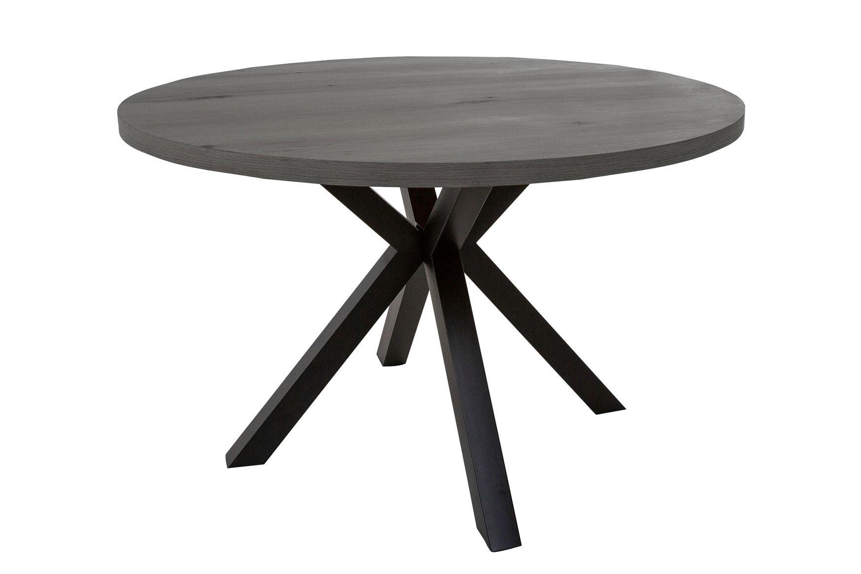 Catalent Dizajnový jedálenský stôl Madie tmavo sivý okrúhly 120cm