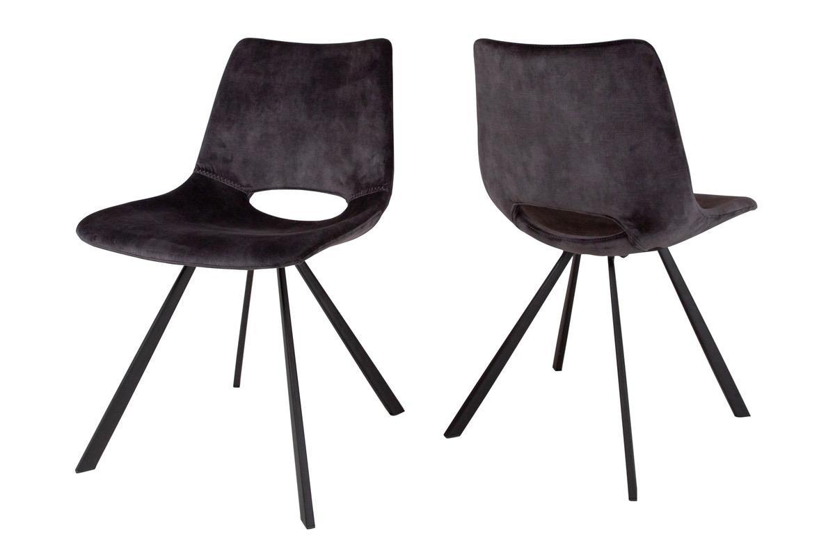 Dizajnová stolička Izabella / velúr antracitová