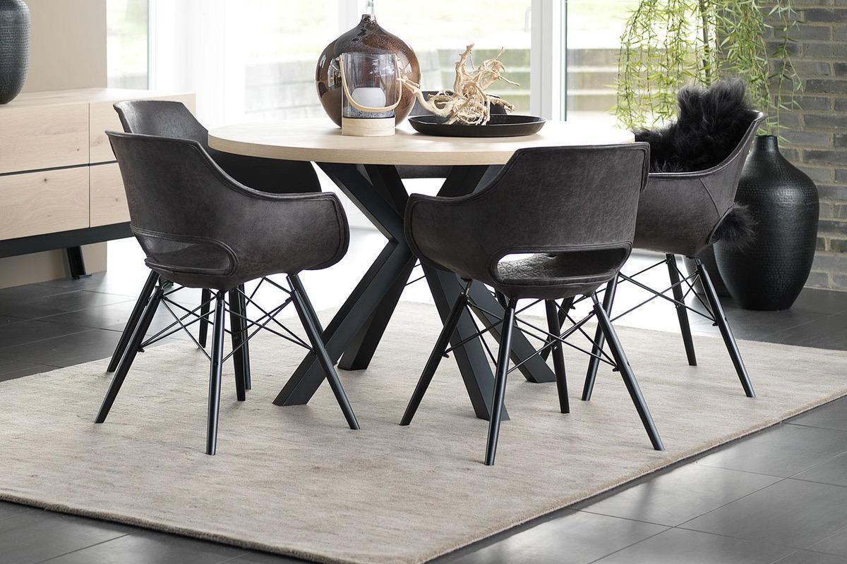 Catalent Dizajnový jedálenský stôl Madie okrúhly 120cm