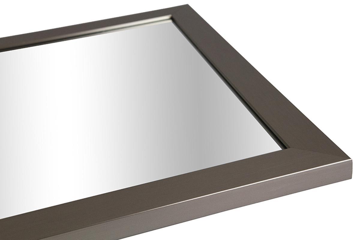 Nástenné zrkadlo Kailey, imitácia nerez