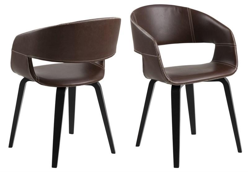 Dkton 23580 Dizajnová stolička Nere, teplá hnedá