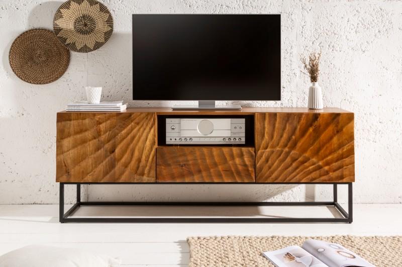 LuxD Dizajnový TV stolík Shayla 160 cm mango