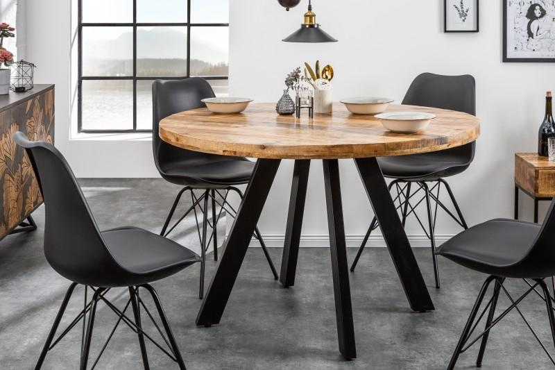 LuxD Okrúhly jedálenský stôl Thunder, 120 cm, mango - RP