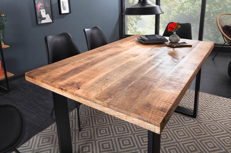 LuxD Dizajnový jedálenský stôl Thunder 140 cm mango