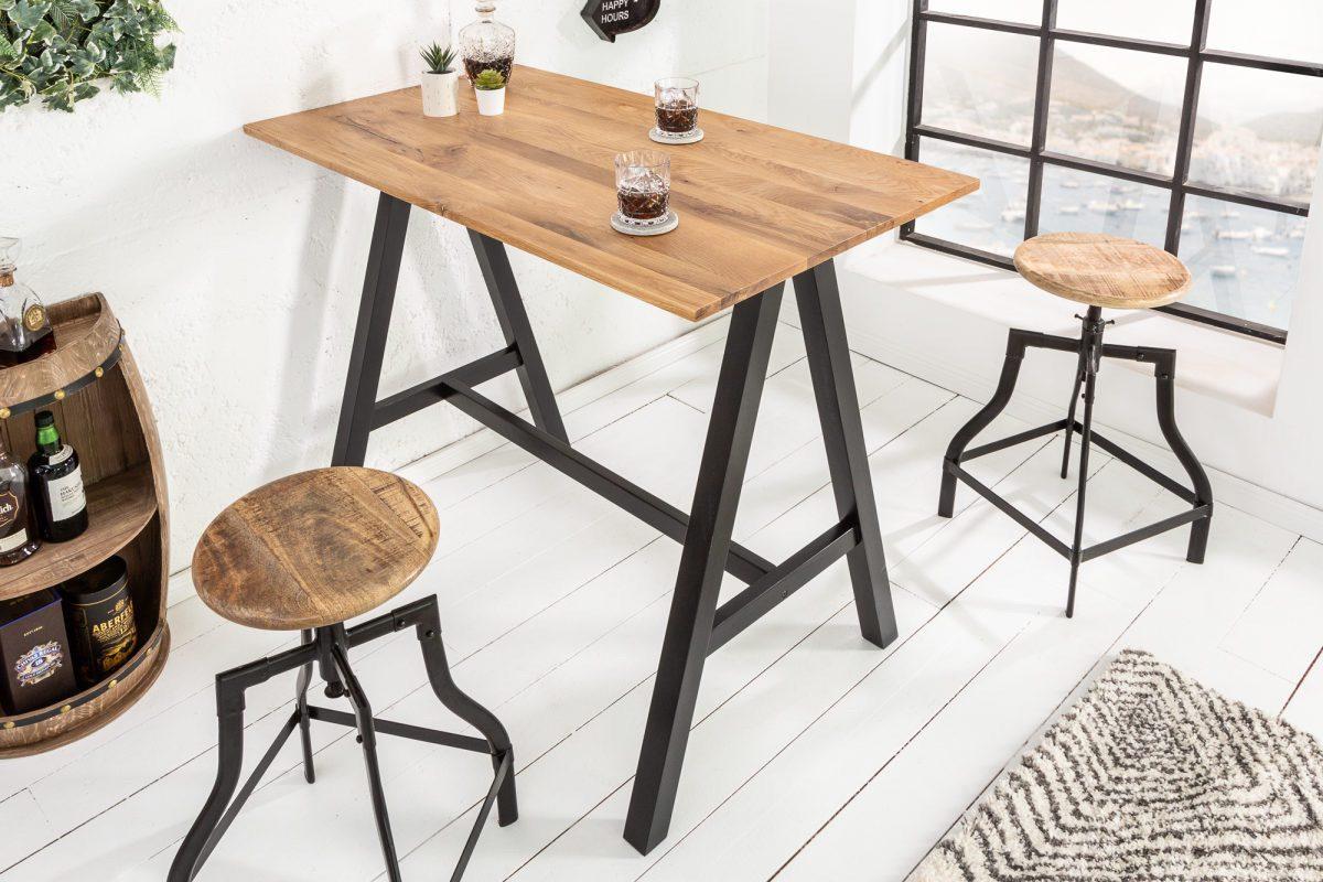 LuxD Barový stôl Queen 120 cm divý dub