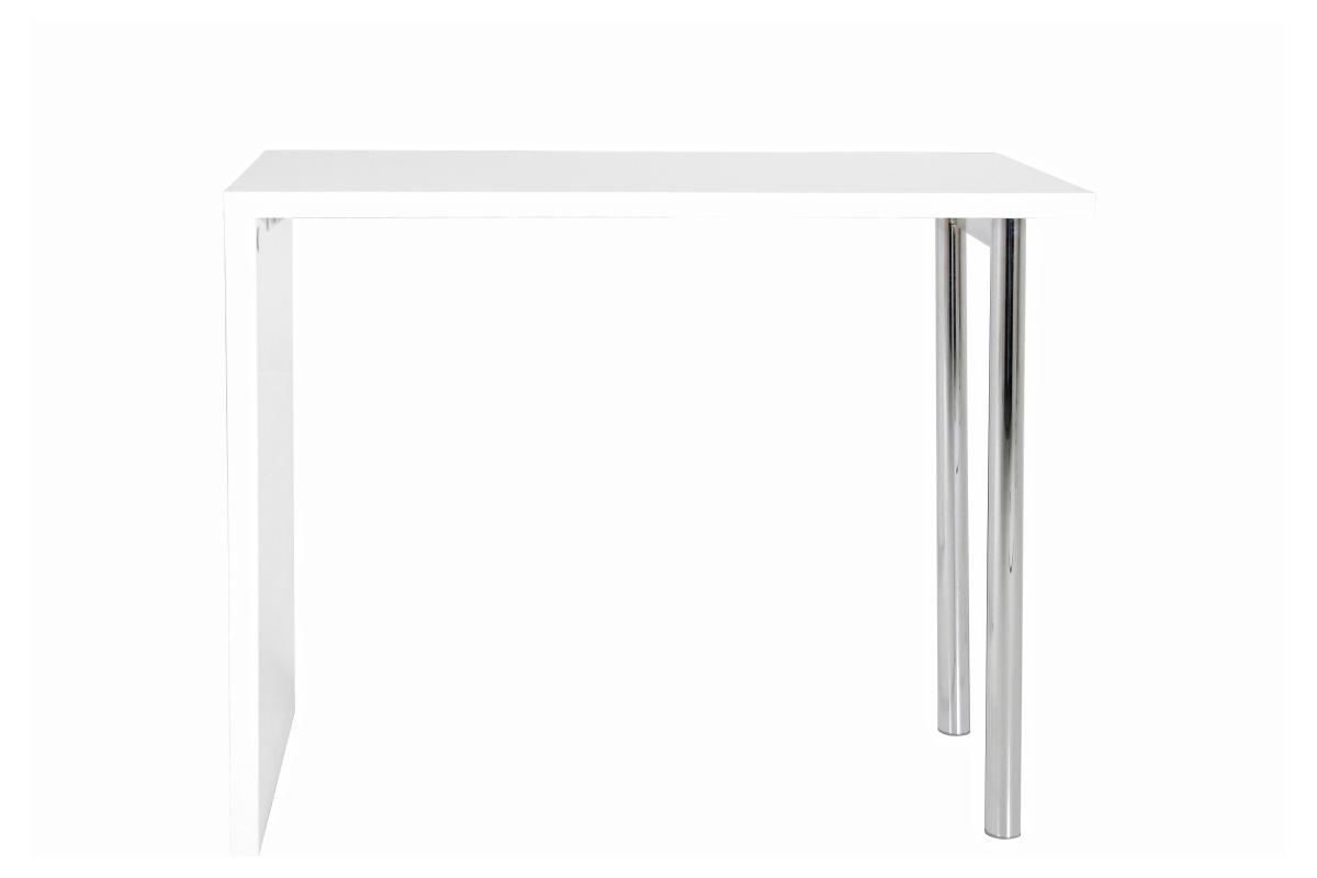 Dkton Biely barový stôl Neal 120 cm