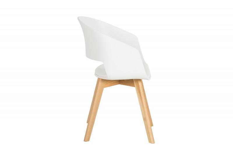 Dizajnová stolička Colby biela