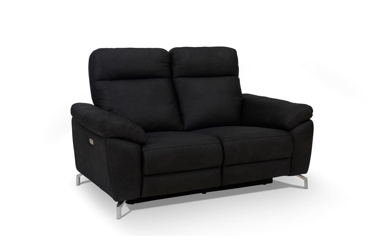 Furnistore Dizajnová 2-miestna sedačka Abeeku, čierna