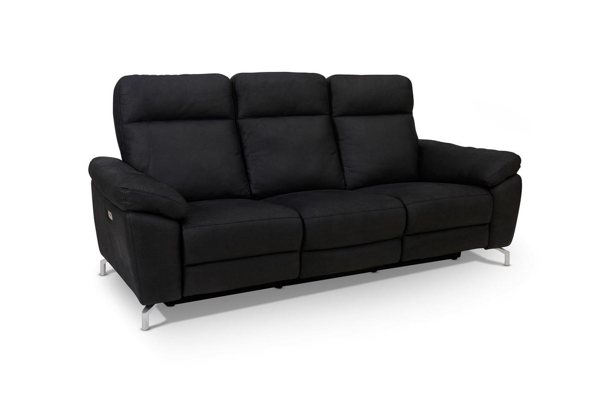 Furnistore Dizajnová 3-miestna sedačka Abeeku, čierna