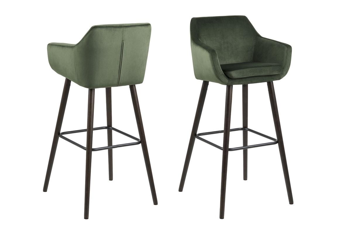 Dkton Dizajnová barová stolička Almond, lesnícka zelená