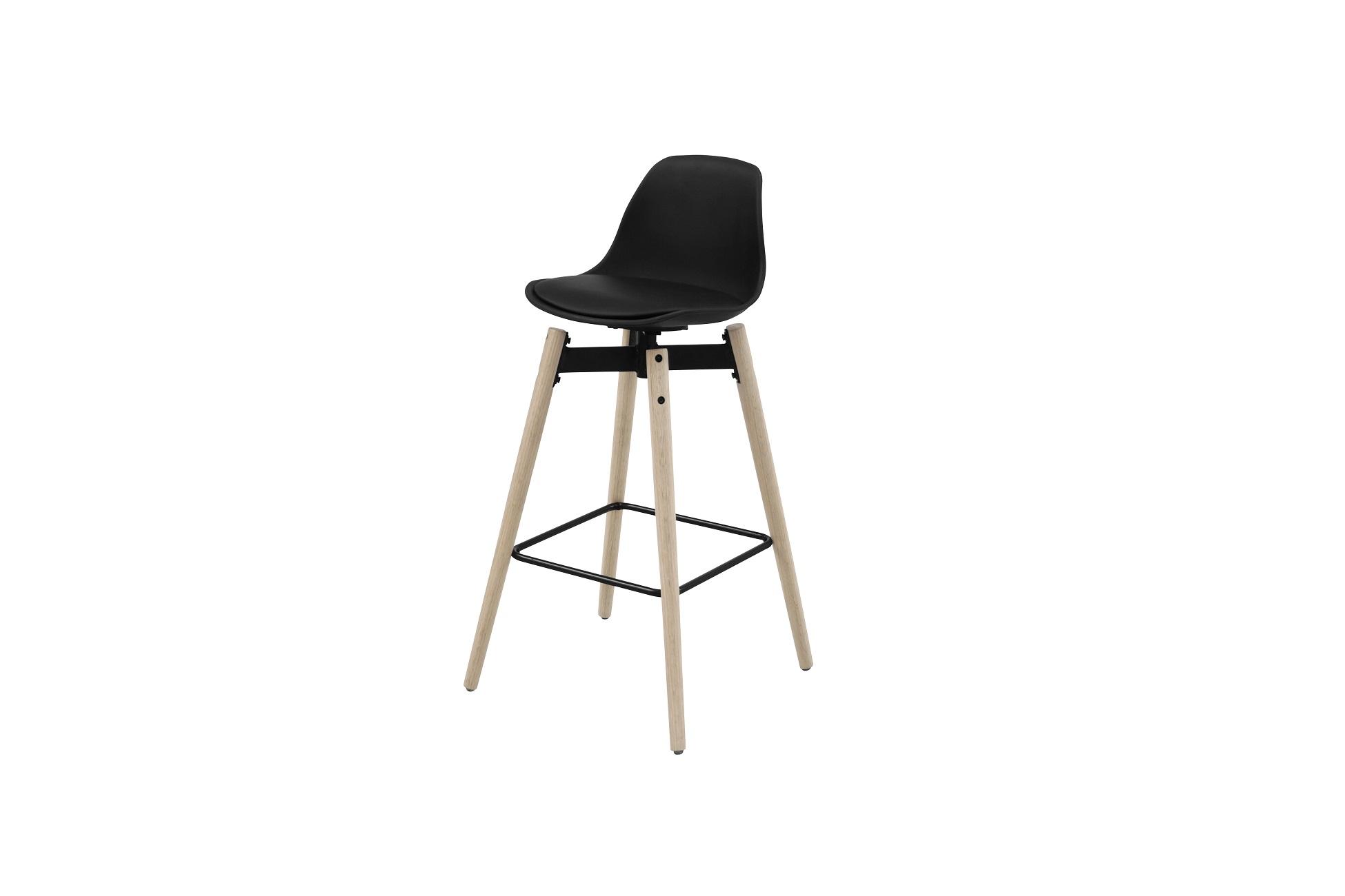 Dkton Dizajnová barová stolička Alter, čierna - RP
