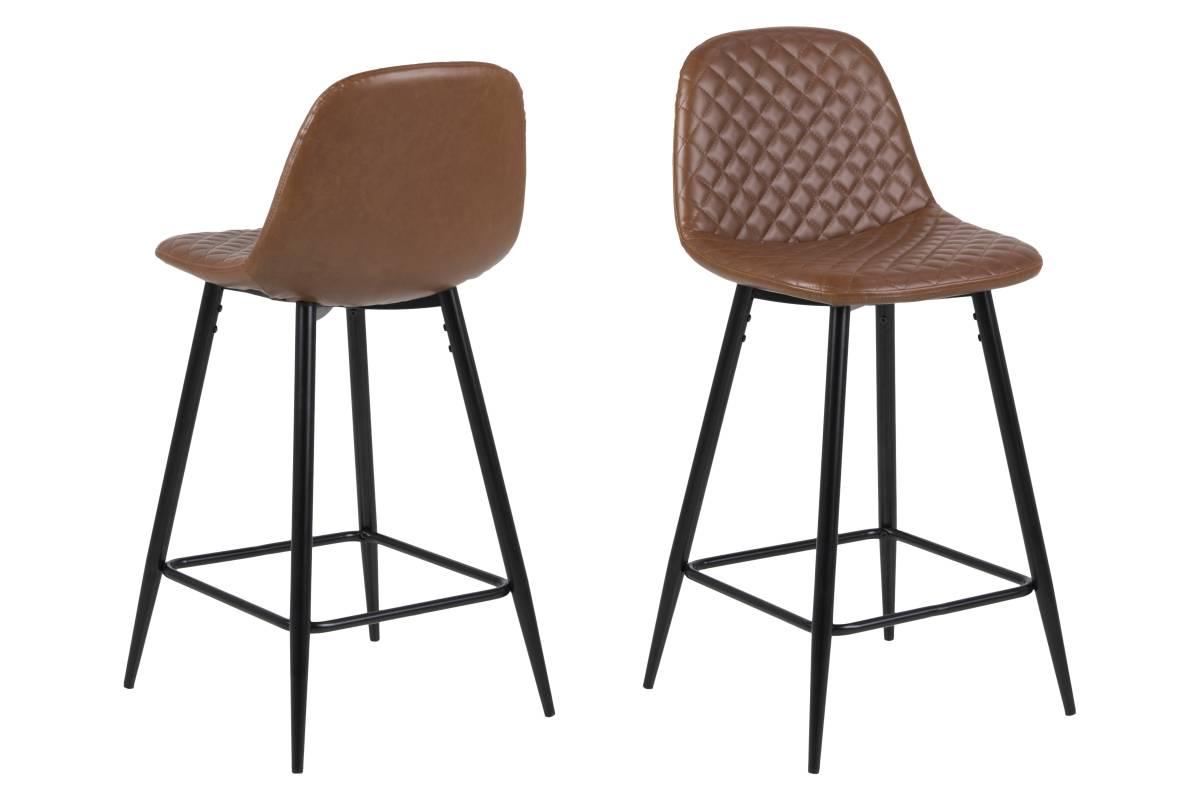 Dkton Dizajnová barová stolička Nayeli, brandy a čierna 91 cm