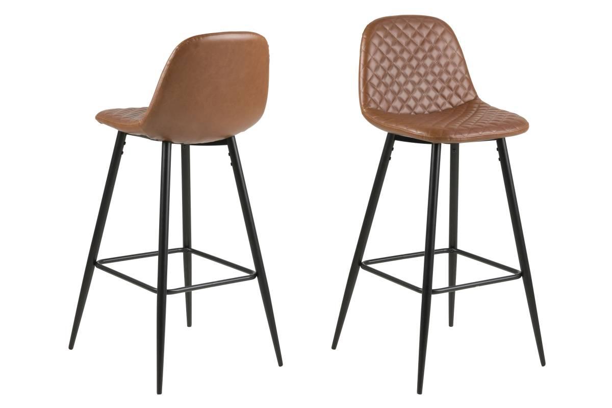 Dkton Dizajnová barová stolička Nayeli, brandy a čierna