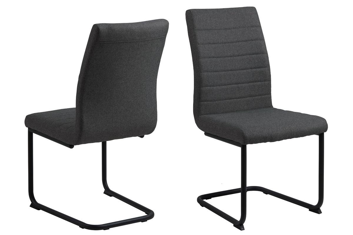Dkton 25274 Dizajnová jedálenská stolička Daitaro tmavosivá / čierna