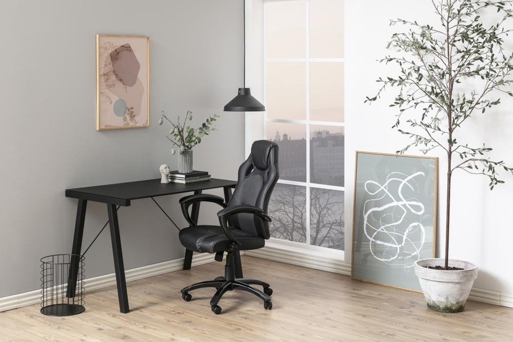 Dkton Dizajnová kancelárska stolička Nardos , šedá-čierna