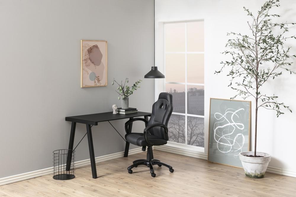 Dkton Dizajnová kancelárska stolička Navy, šedá-čierna