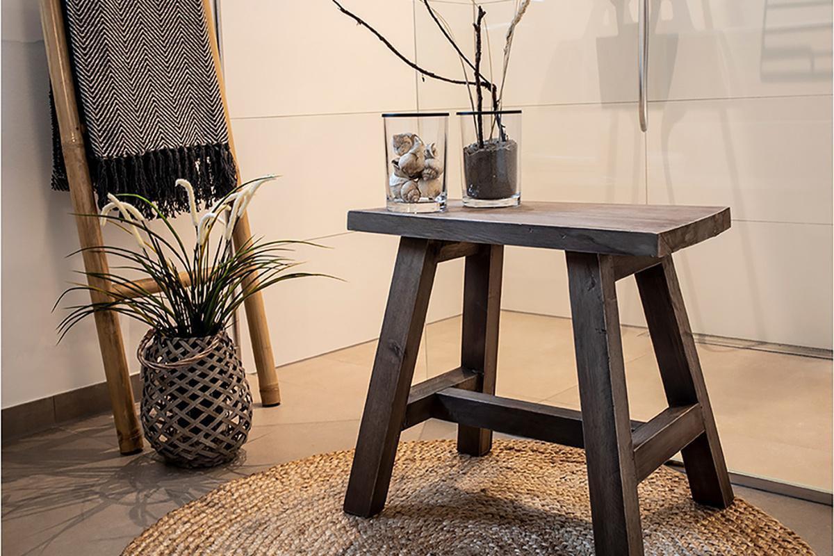 Norddan Dizajnová lavica Brenda 50 cm teak
