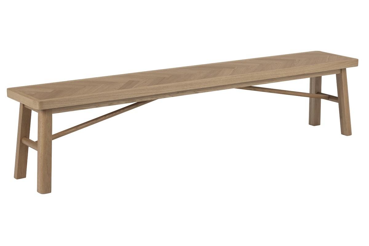 Dkton Dizajnová lavica Dangola 200 cm dub