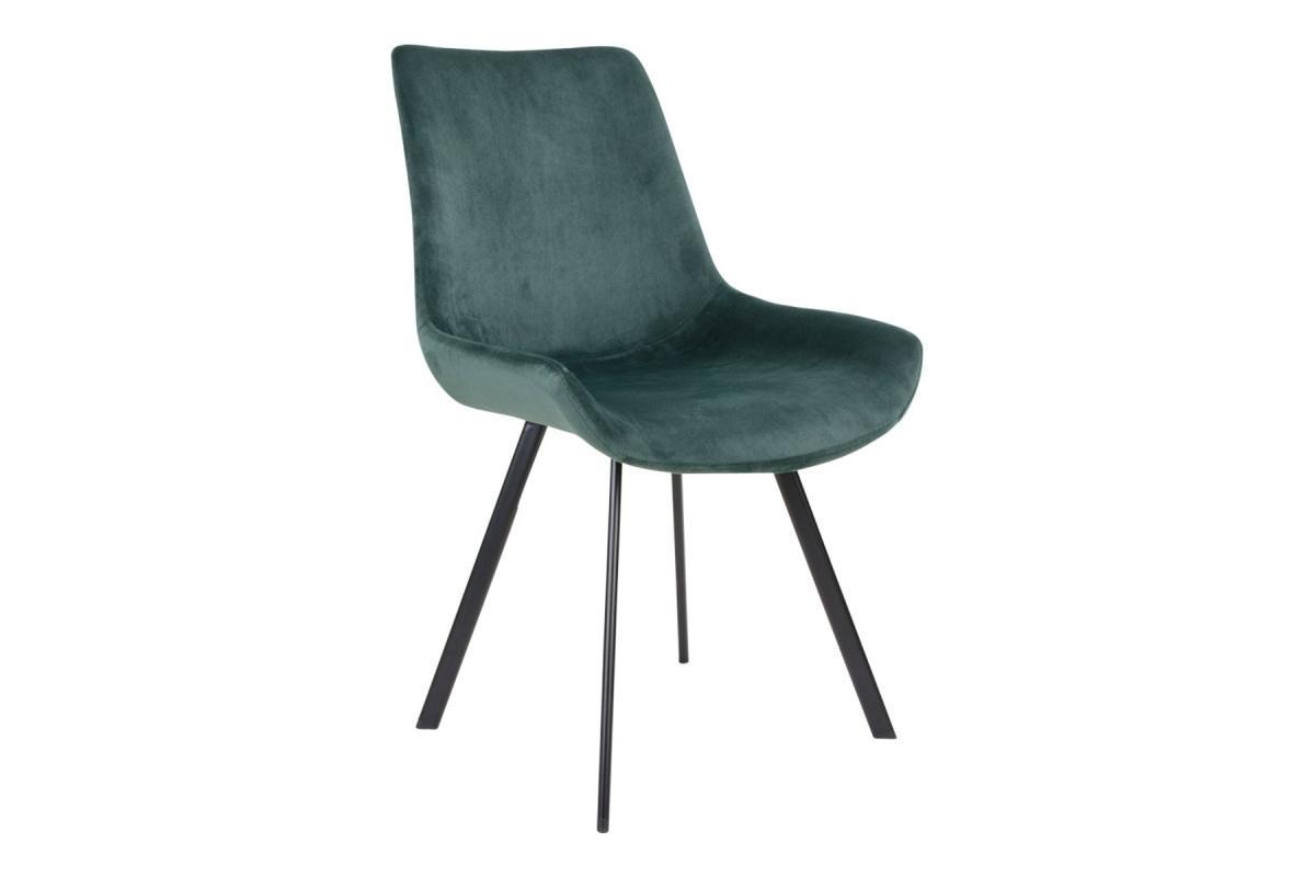 Norddan 21857 Dizajnová stolička Brinley zelený zamat