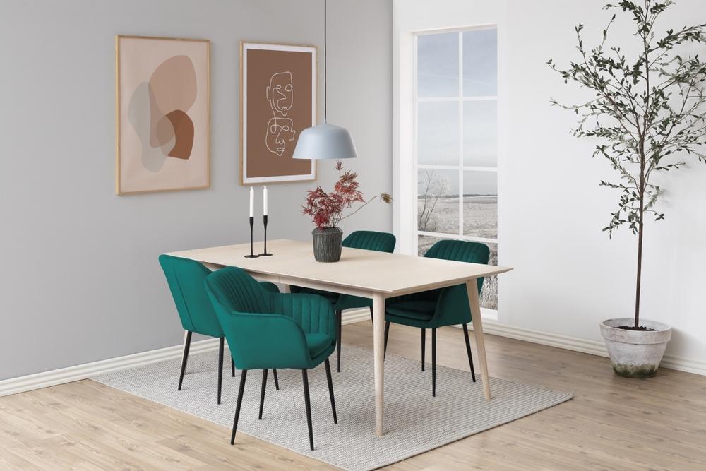 Dkton 23439 Dizajnová stolička Nashira, fľaškovo zelená, kovová