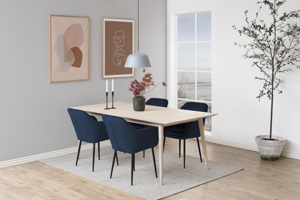 Dkton 23460 Dizajnová stolička Nashira, tmavo modrá, kovová