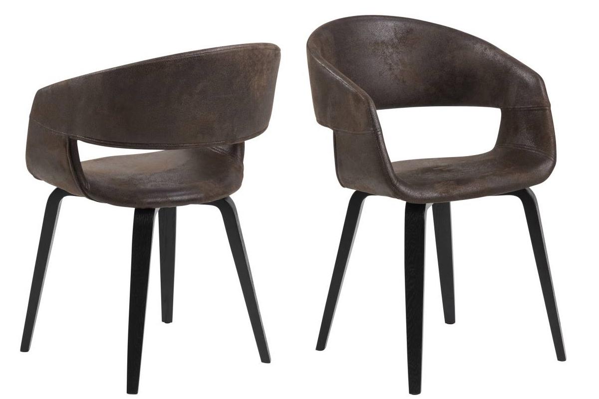 Dkton 23578 Dizajnová stolička Nere, hnedá - RP