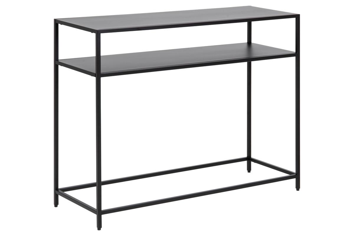 Dkton Dizajnová konzola Layton 100 cm čierna
