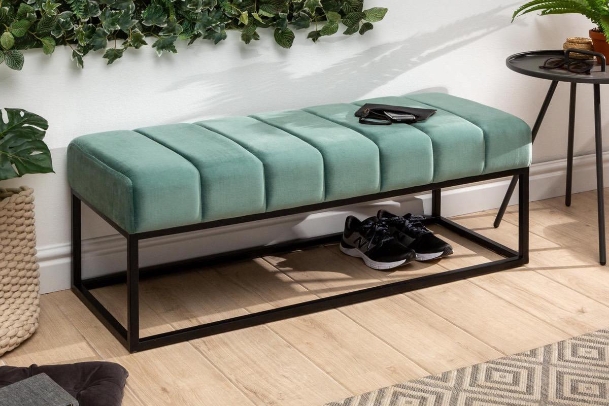 LuxD Dizajnová lavica Halle 110 cm zamat - mentolová zelená