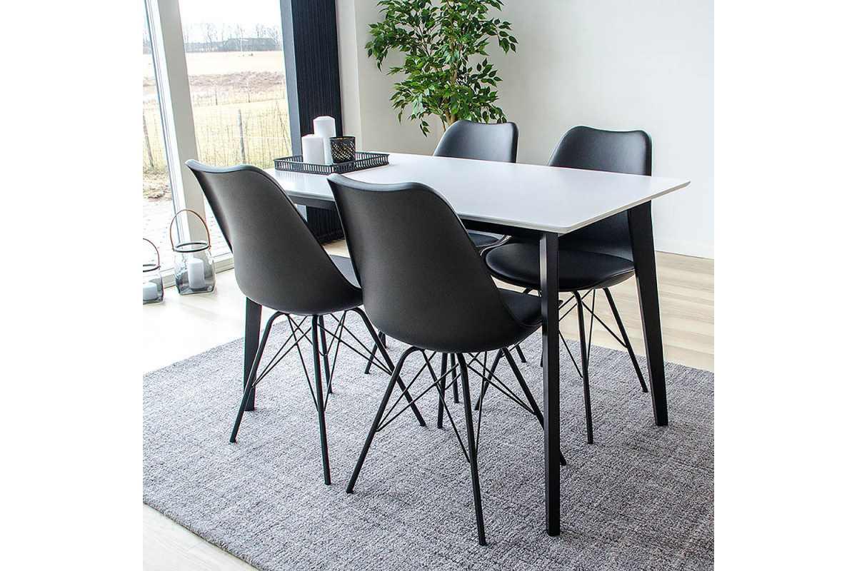 Norddan Dizajnový jedálenský stôl Carmen, čierny / biely