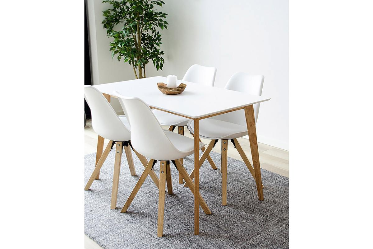 Norddan Dizajnový jedálenský stôl Carmen, prírodný / biely